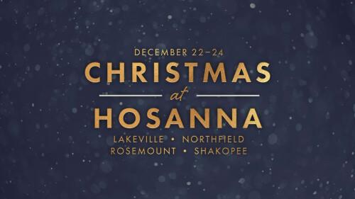 Christmas at Hosanna 2019